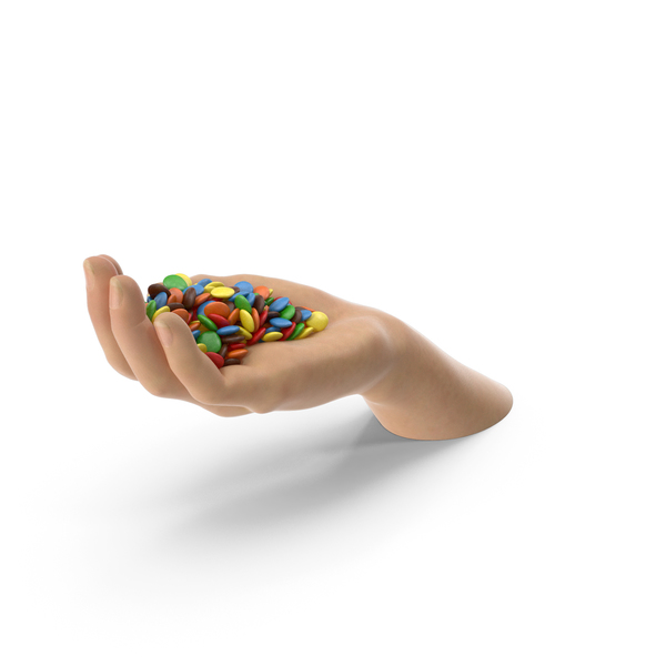 Candy: Hand Handful With M&M's PNG & PSD Images