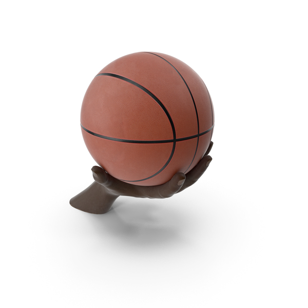 Hand Holding a Basketball Ball PNG & PSD Images