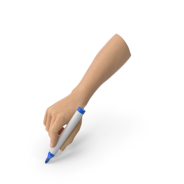 Game: Hand Holding a Blue Marker Pen PNG & PSD Images
