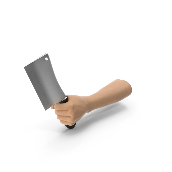 Hand Holding a Cleaver PNG & PSD Images