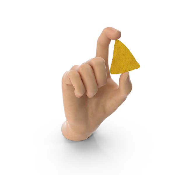 Hand Holding a Doritos Nacho Chip PNG & PSD Images