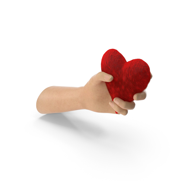 Hand Holding a Fluffy Heart PNG & PSD Images