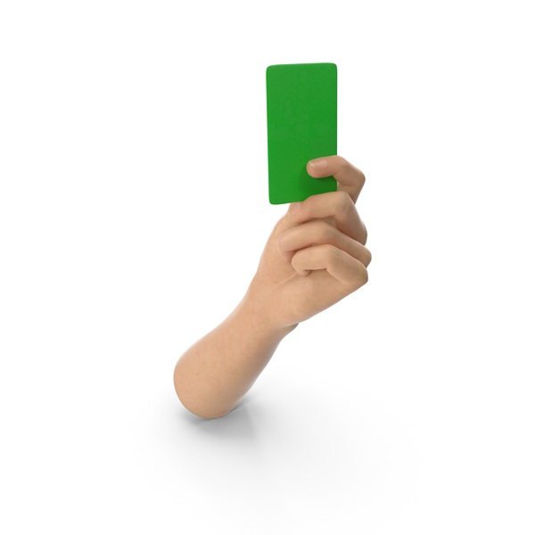Hand Holding a Green Card PNG & PSD Images