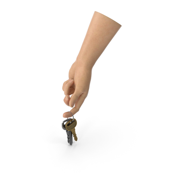 Hand Holding a Key Chain PNG & PSD Images