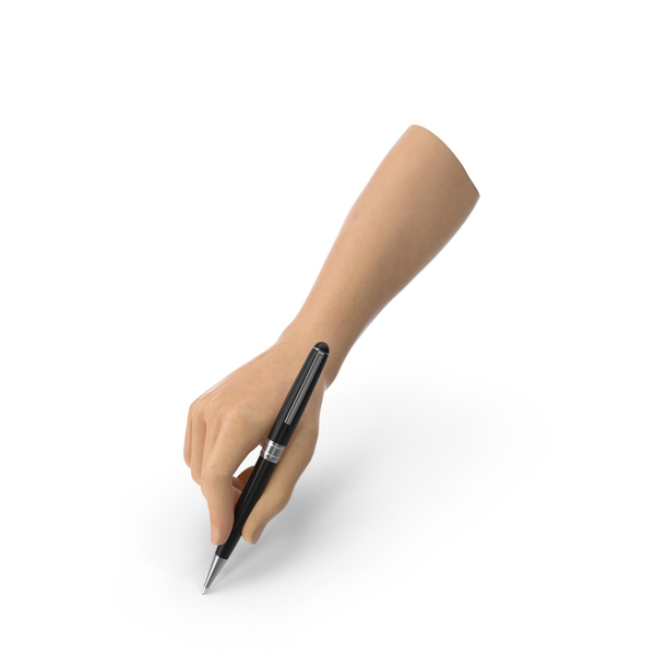 Ballpoint: Hand Holding a Pen PNG & PSD Images