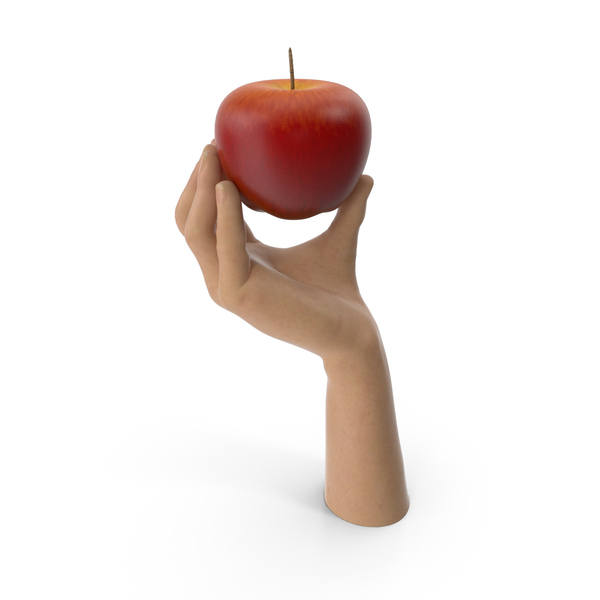 Hand Holding a Red Apple PNG & PSD Images