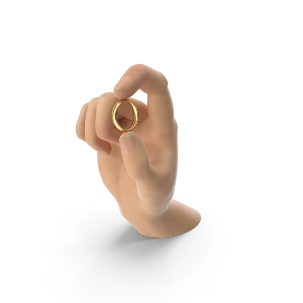 Gold: Hand Holding a Ring PNG & PSD Images