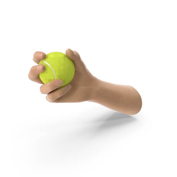 Hand Holding a Tennis Ball PNG & PSD Images