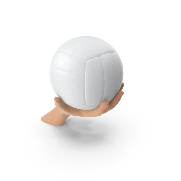 Hand Holding a Volleyball Ball PNG & PSD Images