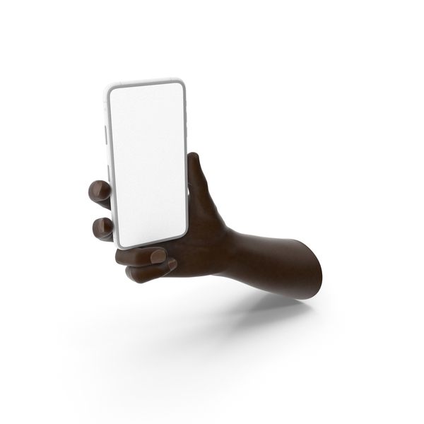 Hand Holding a White Smartphone Mockup PNG & PSD Images