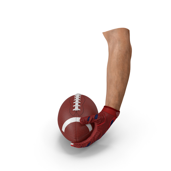 Hand Holding American Football Ball PNG & PSD Images