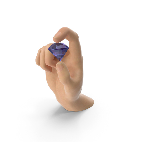 Hand Holding an Amethyst Diamond PNG & PSD Images