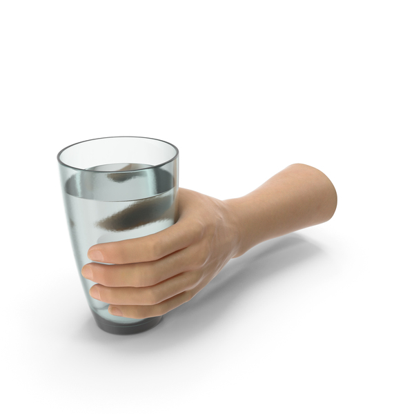 Hand Holding Glass of Water PNG & PSD Images