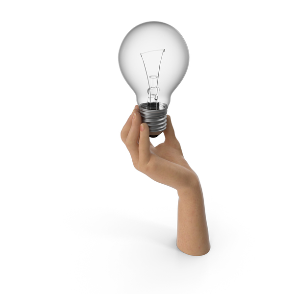 Hand Holding Lightbulb PNG & PSD Images