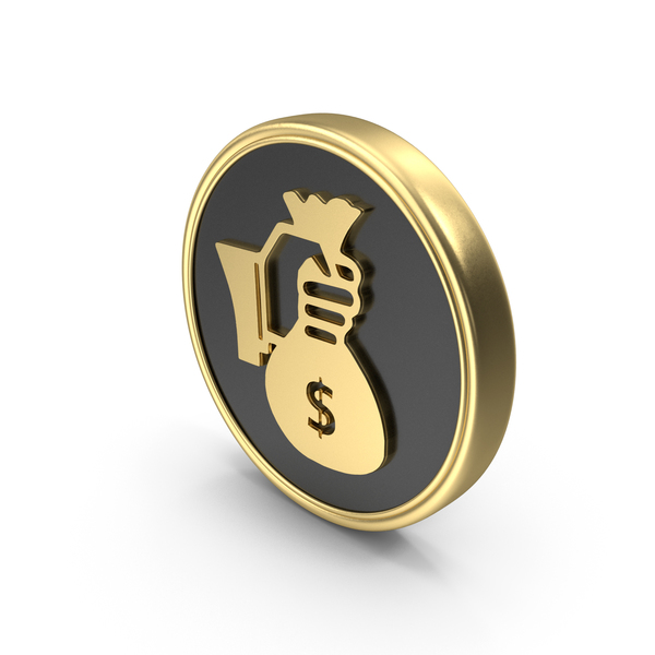 Bag: Hand Holding Money Coin Symbol PNG & PSD Images