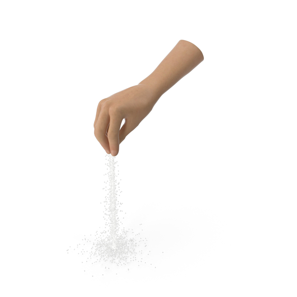 Hand Pouring Salt PNG & PSD Images