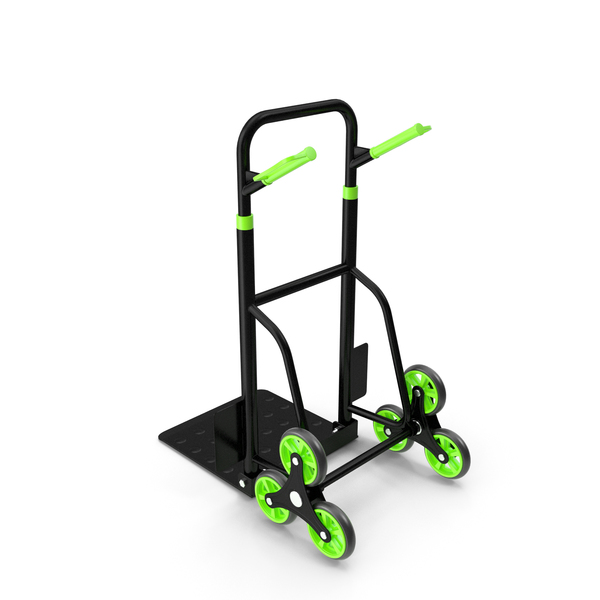 Hand Truck Trolley Cart Green PNG & PSD Images