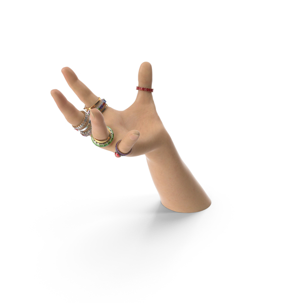 Hand with Rings PNG & PSD Images