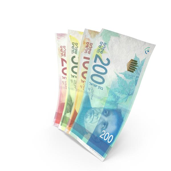 Handful of Israeli Shekel Banknote Bills PNG & PSD Images