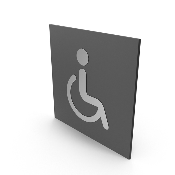 Handicap: Handicapped Bathroom Sign PNG & PSD Images