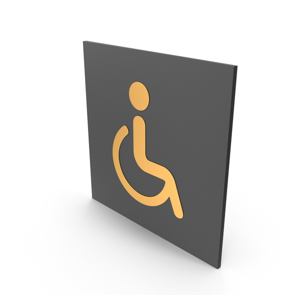 Handicapped Bathroom Sign PNG & PSD Images
