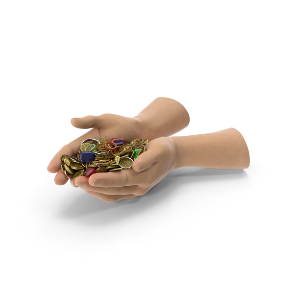 Hand: Hands Handful with Treasure PNG & PSD Images