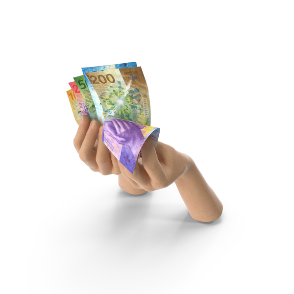 Hand: Hands Holding Swiss Franc Banknote Bills PNG & PSD Images