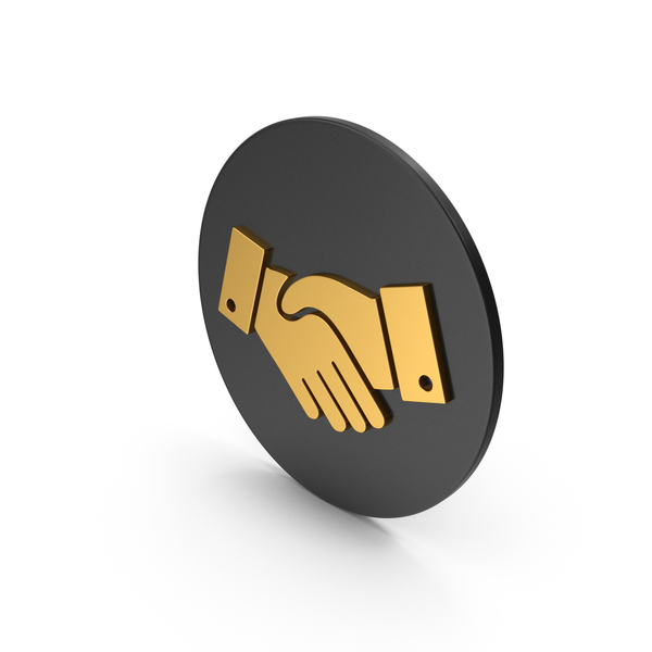 Computer: Handshake Gold Icon PNG & PSD Images