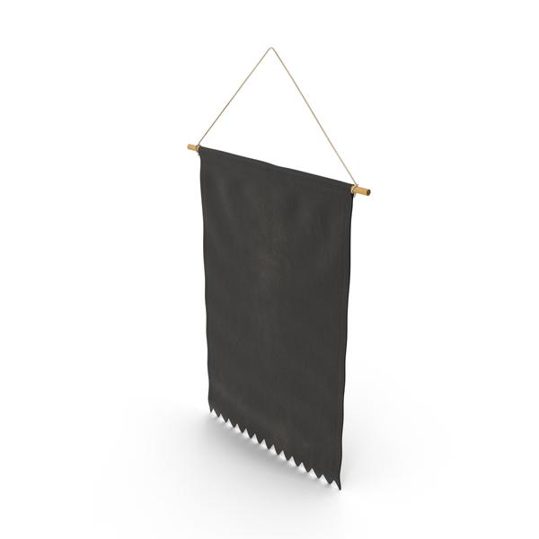 Hanging Banner Black PNG & PSD Images