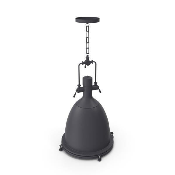 Chandelier: Hanging Lamp T1 Black Loft Steampunk Spotlight PNG & PSD Images