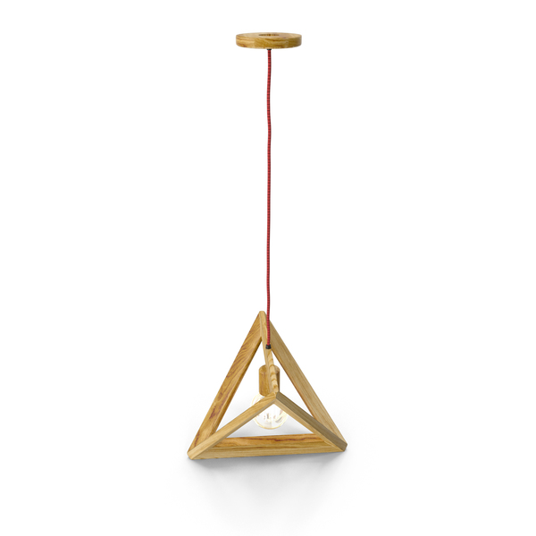 Hanging Lamp Wood Triangle PNG & PSD Images