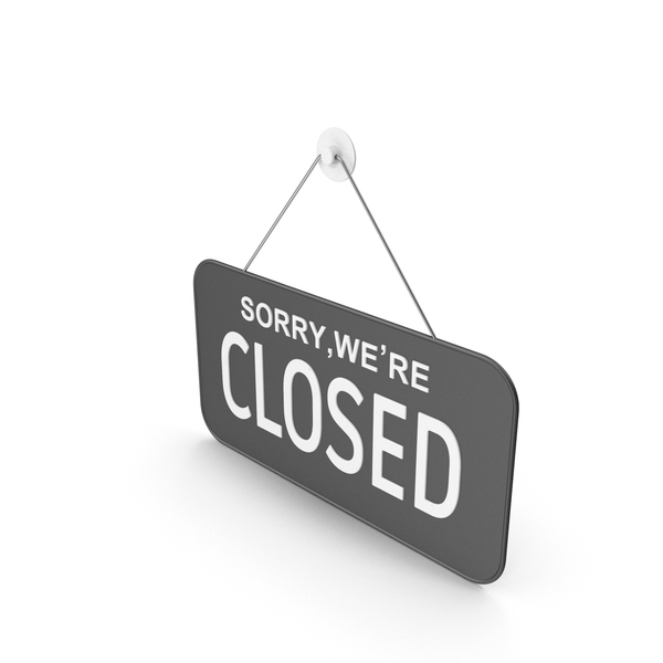 Hanging Sign Closed PNG & PSD Images