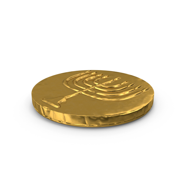 Hanukkah Chocolate Gelt Coin PNG & PSD Images
