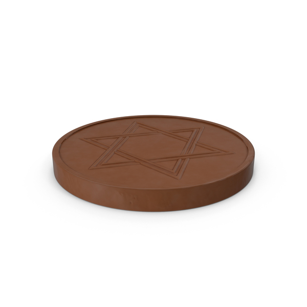 Hanukkah Chocolate Gelt Coin Unwrapped PNG & PSD Images