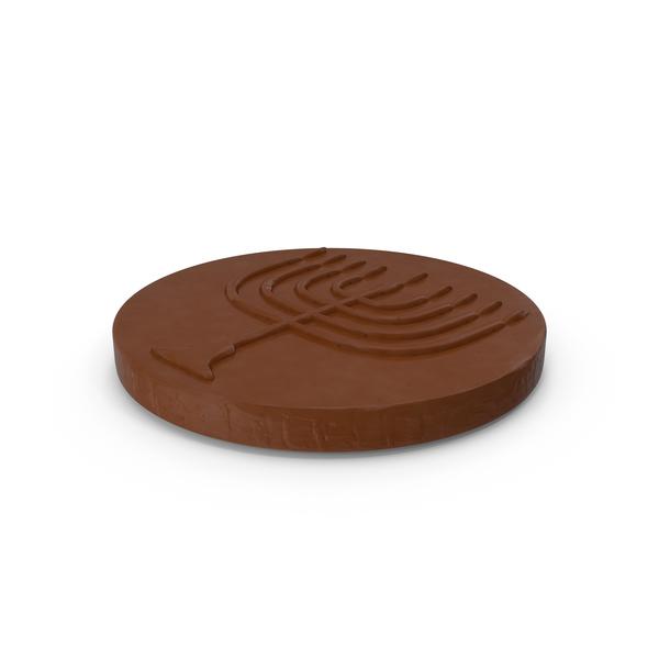 Hanukkah Chocolate Gelt Coin PNG & PSD Images