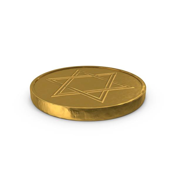 Hanukkah Chocolate Gelt Coins PNG & PSD Images