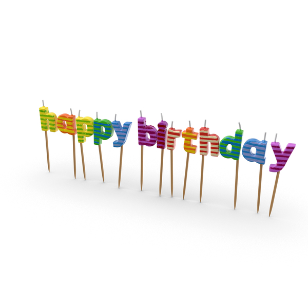 Candle: Happy Birthday Candles PNG & PSD Images