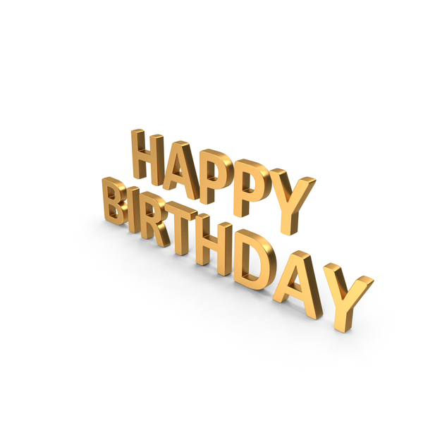 Happy Birthday Symbol Gold PNG & PSD Images