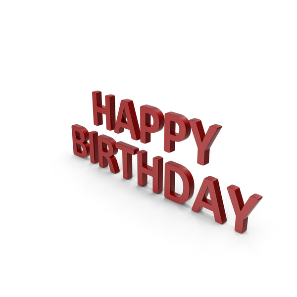 Happy Birthday Symbol Red PNG & PSD Images