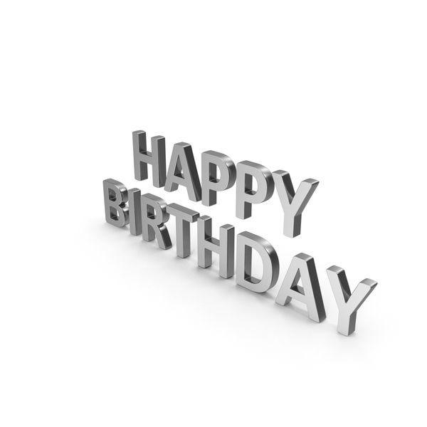 Happy Birthday Symbol Silver PNG & PSD Images