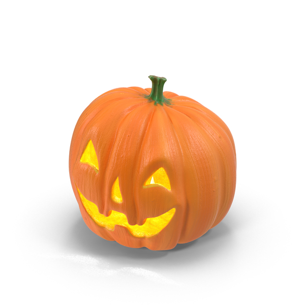 Happy Ceramic Jack-o-Lantern Object