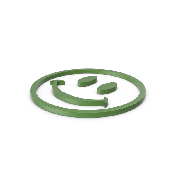 Smiley Face: Happy Green Icon PNG & PSD Images