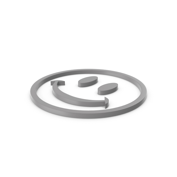 Smiley Face: Happy Grey Icon PNG & PSD Images