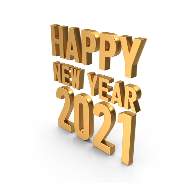 Happy New Year 2021 Symbol Gold PNG & PSD Images