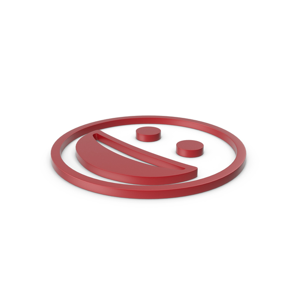 Smiley Face: Happy Red Icon PNG & PSD Images