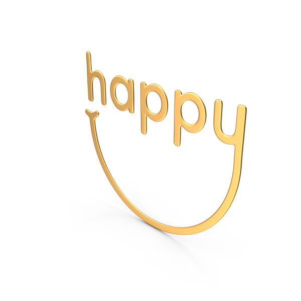 Smiley Face: Happy Symbol Gold PNG & PSD Images