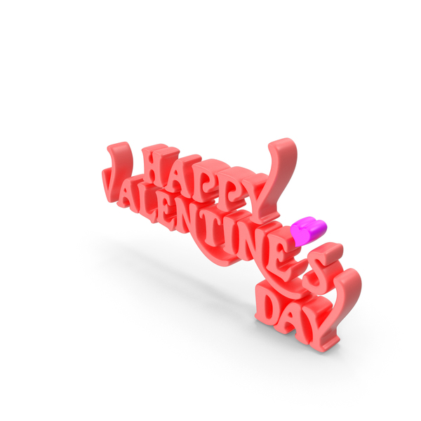 Happy Valentine's Day Pink PNG & PSD Images