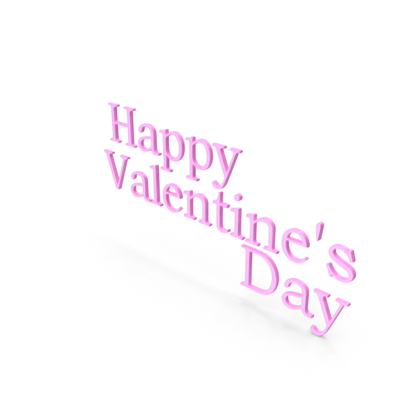 Happy Valentine's day Symbol Pink PNG & PSD Images