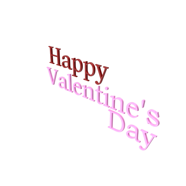 Symbols: Happy Valentine's day Symbol Red and Pink PNG & PSD Images