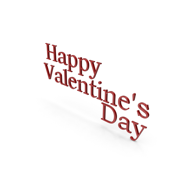Happy Valentine's Day Symbol Red PNG & PSD Images